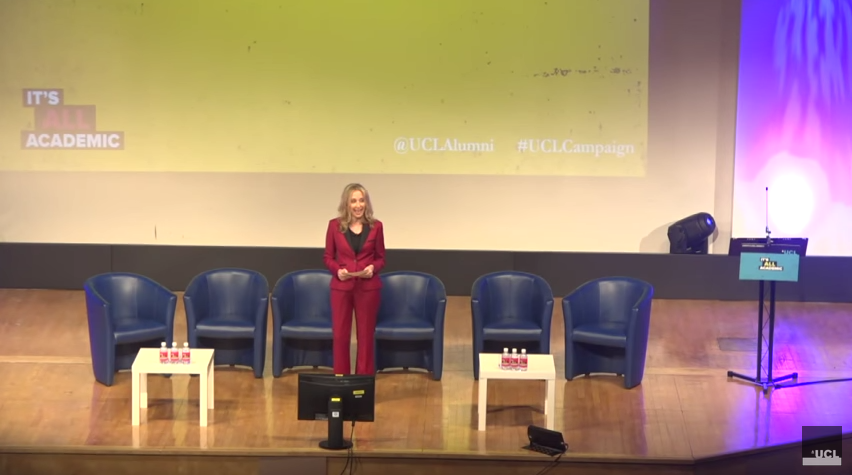 Noreena Hertz hosts UCLs Campaign Launch   How Will Society Survive Into The 22nd Century?